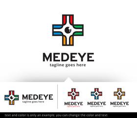 Medical Eye Logo Template Vector Design
