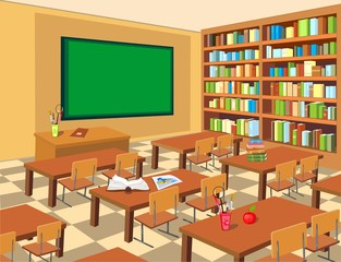 interior of classroom