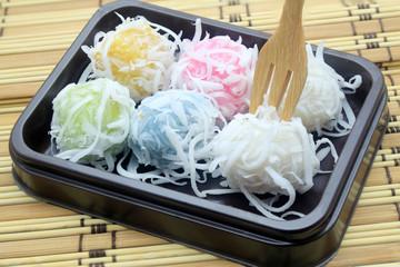Thai dessert : Flour stuffed with sweet coconut