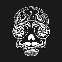 Vector  Dead Skull illustration, Hand drawn Skull in zentangle s