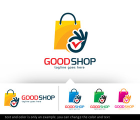 Good Shop Logo Template Vector Design