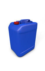 Blue plastic jerry can