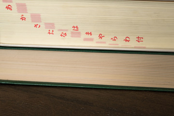 Book with Japanese letters