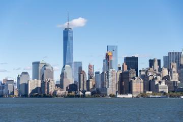 New York City Skyline Seen from a Tourist Cruise