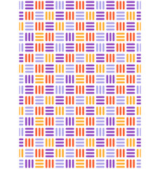 Seamless bright fun abstract mosaic knitted pattern isolated on