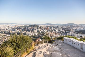Aerial view of Seoul, South Korea capital city