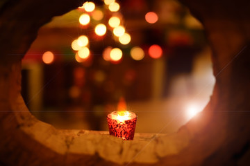 candle frame bokeh romance de focus light background.