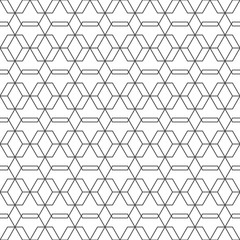 Geometric abstract pattern of hexagon in the white background.