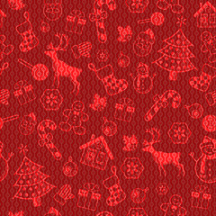 Christmas decorative pattern