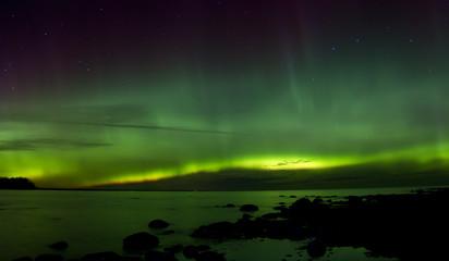 Northern lights 03.11.15 , lake Ladoga, Russia