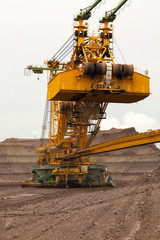 Huge coal mining coal machine