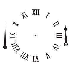 Vintage Roman numeral clock.