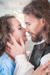 Beautiful passionate couple woman and man