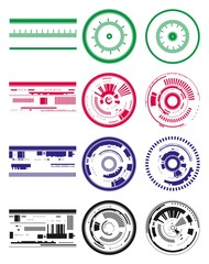 technology circles and strips