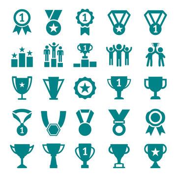 Winner Victory Icon Set