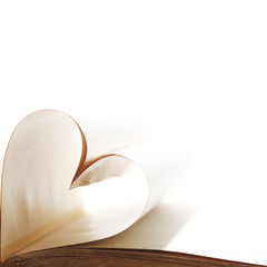 Heart from book pages