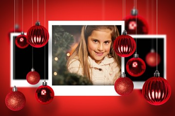 Composite image of christmas photographs