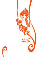 Orange symbol of 2016 year