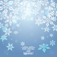blue background with snowflakes,