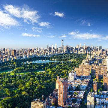 Central Park aerial view, Manhattan, New York;