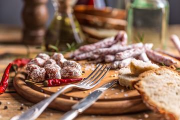 Set of salami
