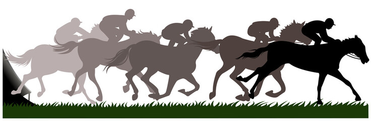 racing horse silhouette