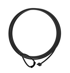 Wild west lasso rope circle frame. Black