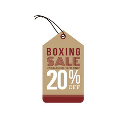 Boxing sale label