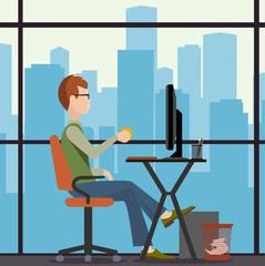 office worker illustration