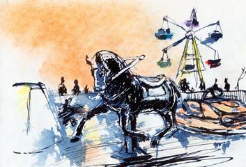 Carousel Horse Sketch