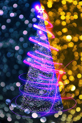 christmas tree from lights