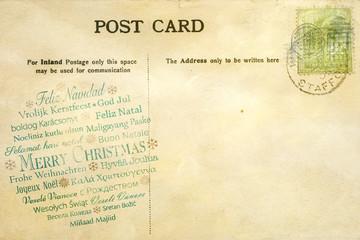Weihnachten Postkarte