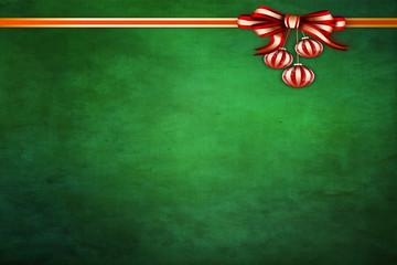 grüner Hintergrund mit Dekoband