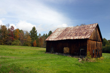 old barn on a farm ..