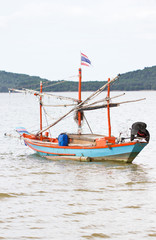 Fishing boat at Chumphon, Thailand.