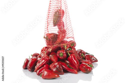 Fresh Stack Of Red Pepper Studio Shot
