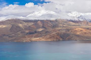 Tsomoriri lake with mountain