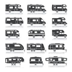 Recreational Vehicle Black Icons