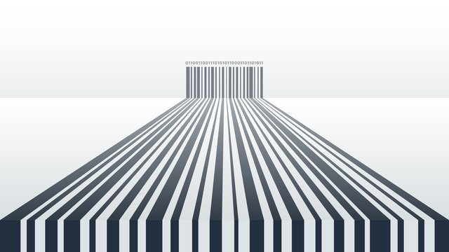 Abstract Barcode Background