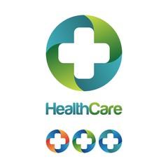 Health Care Cross Hospital Logo Design