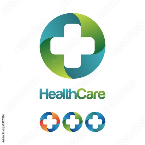 health care cross hospital logo design health wealth care logo