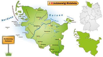 Karte von Schleswig-Holstein