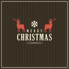 Vector Christmas greeting card, dark background