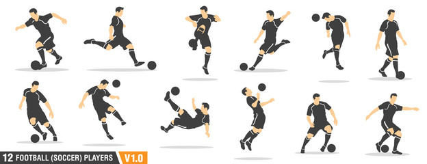 12 vector set of football (soccer) players 01