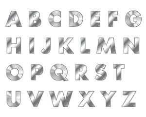 steel letters metal font