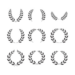 laurel wreaths symbol set