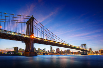 Wall Mural - Amazing view to new york city bridge