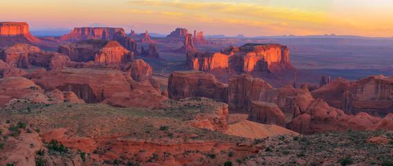 Sunrise at Hunts Mesa viewpoint Wall mural