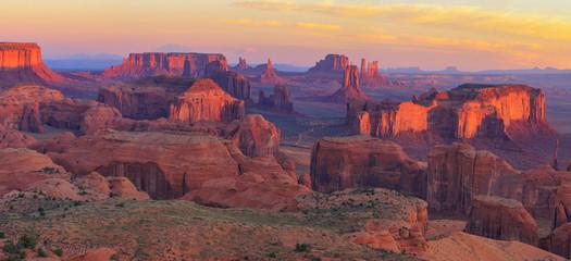 Fototapete - Sunrise at Hunts Mesa viewpoint