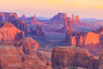 Wall Mural - Sunrise at Hunts Mesa viewpoint